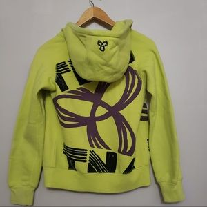 TNA Bright Yellow Logo Zip Up Hoodie